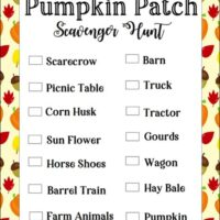 Pumpkin Patch Scavenger Hunt