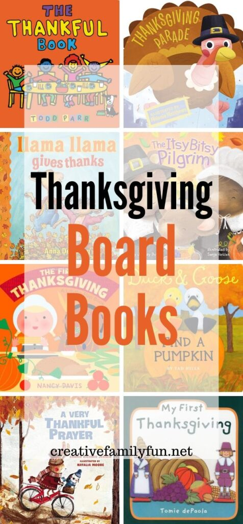Find some great new books to read with your babies and toddlers this fall season with this list of fun Thanksgiving board books.
