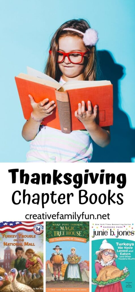 Get in the holiday spirit with this fun selection of Thanksgiving chapter books for kids. You'll read about the history and sprit of the holiday.