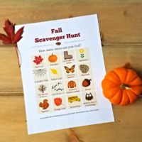 Fall Scavenger Hunt List