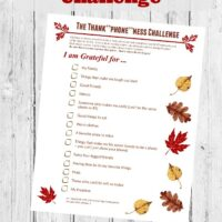 Thanksgiving Game: Photo Scavenger Hunt on Your Smartphone