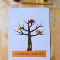 Autumn Tree Play Dough Mat