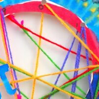 Pi Day Inspired String Art Activity