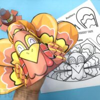 3D Printable Turkey Cone Craft
