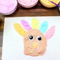 Puffy Paint Turkeys
