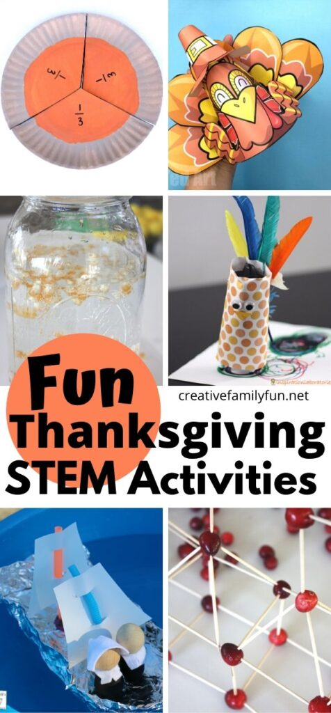 Learn and have fun with pumpkins, pie, cranberries, and more with this fun collection of Thanksgiving STEM activities for kids.