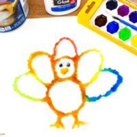 Thanksgiving Turkey Salt Painting