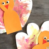 Feather Painted Turkey Craft for Kids