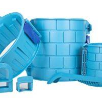 Create A Castle - Sand or Snow Castle Split Mold Set - 6 Piece Pro Building Set