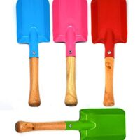 Annymall Garden Tools 4-Piece Shovel Set, Metal with Sturdy Wooden Handle