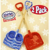 "Matty's Toy Stop 28"" Heavy Duty Wooden Snow Shovels with Plastic Scoop & Handle for Kids"