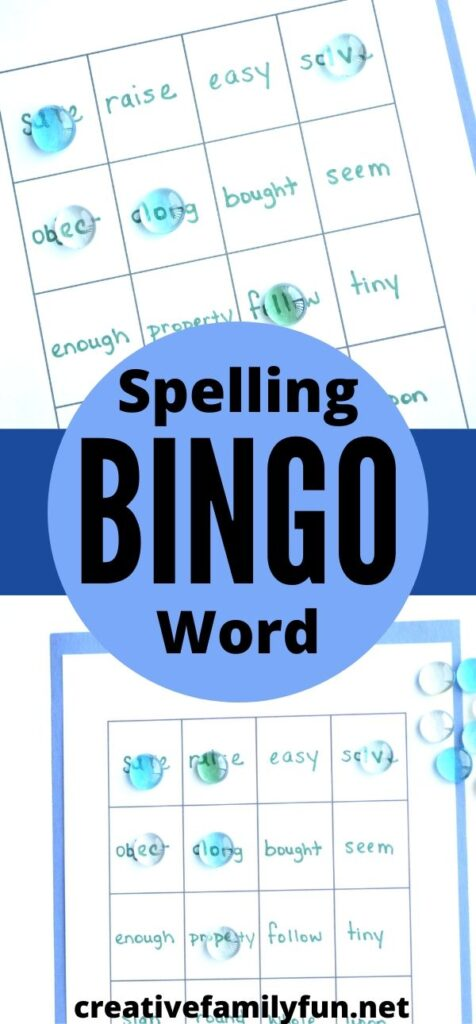 Turn your spelling homework into a fun game when you use this printable template to make your own Spelling Word BINGO game.