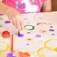 Circle Art Process Painting