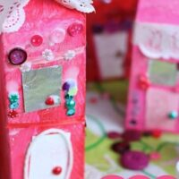 Milk Carton Valentines Houses for Kids to Make