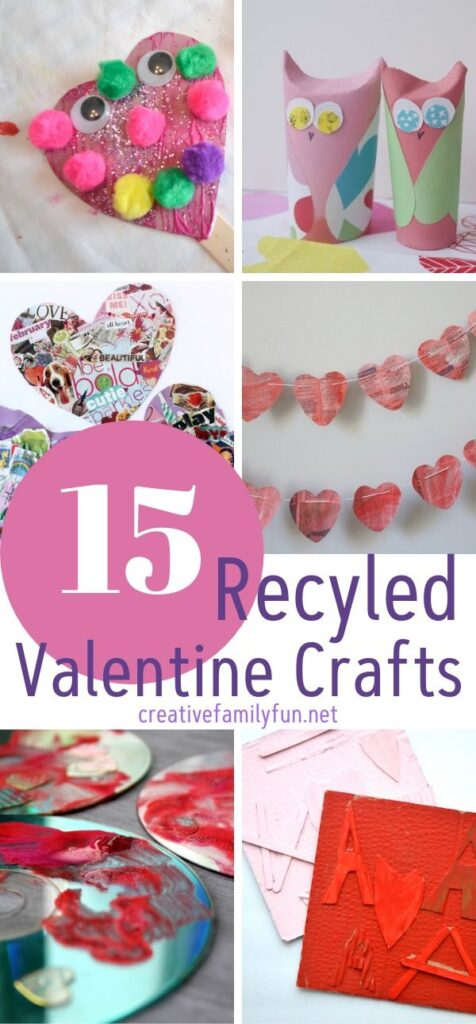 Awesome recycled Valentine crafts for kids, tween, and teens.