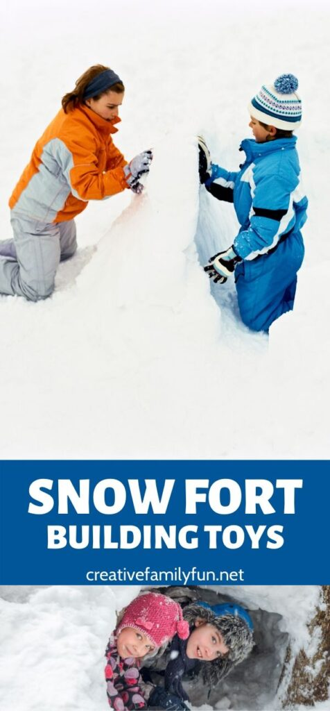 These fun snow fort building toys will help you get outside and have some fun this winter building lots of amazing snow structures.