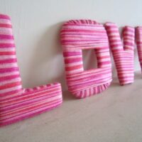 DIY Yarn Wrapped Letters for Valentine's