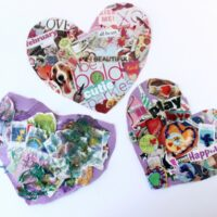 Easy Valentine's Day Collage Hearts Art Activity