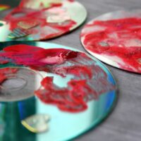 Recycled CD Valentines Day Craft for Preschoolers