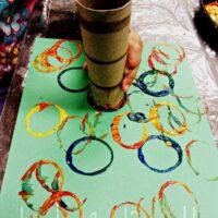 Easy Toddler Circle Painting