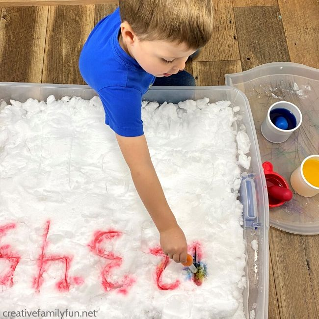 Fun snow numbers activity for toddlers