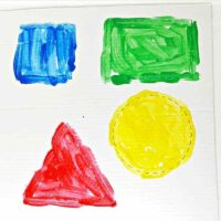 Painting Shapes - Easy Toddler Painting Activity