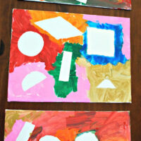Contact Paper Shape Art