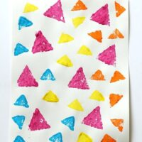 Sponge Stamped Triangle Collage