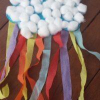 Rain Cloud Toddler Craft