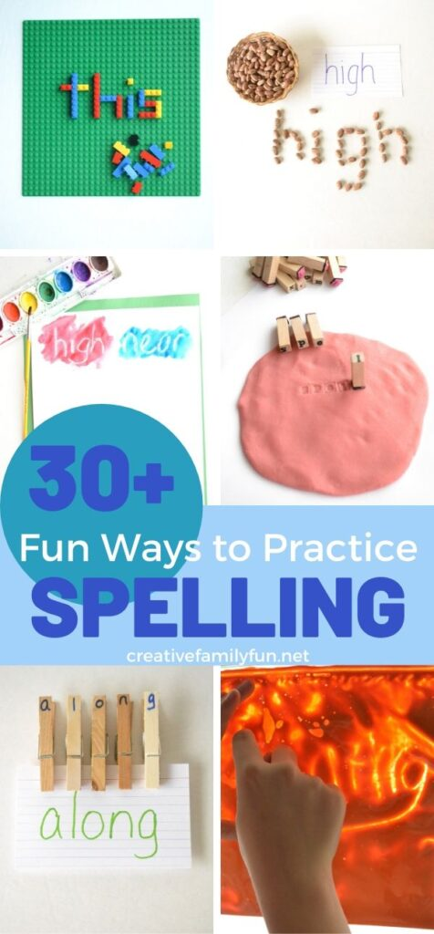 Over 30 active and fun ways to practice spelling words.