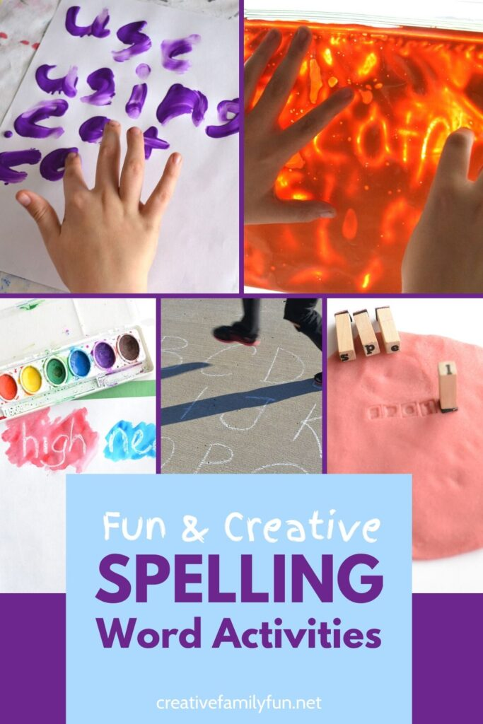 The best spelling activities to make learning fun.