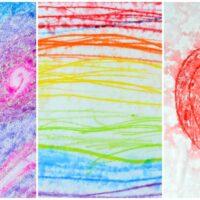 Watercolour Pencils Rain Art