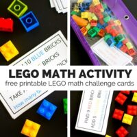 LEGO Math Challenge Cards and Activities