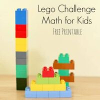Lego Challenge Math Activity (Free Printable)