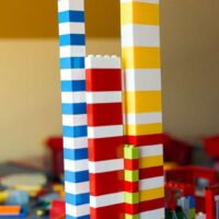 Block Patterning with Legos for Preschoolers