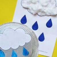 Paper Plate Rain Craft